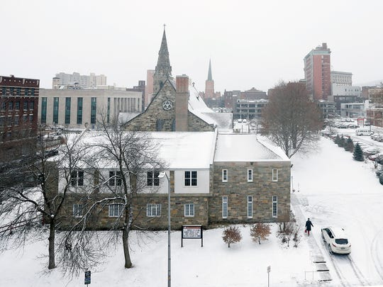 High winds, frigid temperatures and snow blanketed the Binghamton region on Thursday, January 4, 2018.