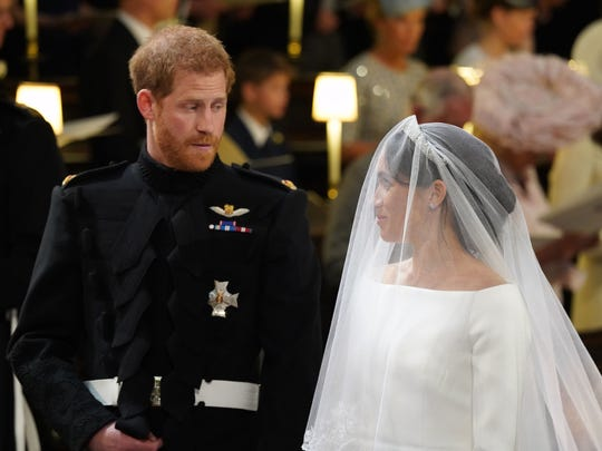 Britain's Prince Harry, Duke of Sussex, and fiancee