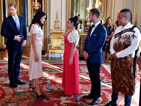 Britain's Prince Harry and Duchess Meghan of Sussex