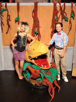 """Starring Chloe Hunt, Eli Adams (plant), Parker Chalabian in the Tulare County Office of Education Theatre company presents """"The Little Shop of Horrors"""" at the L. J. Williams on July 10, 2018."""