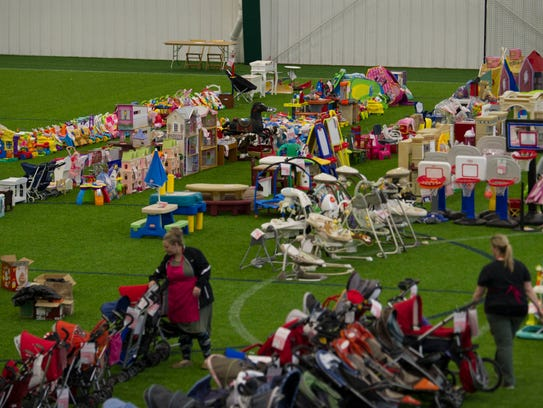 Whale of a Sale is held in the huge Grand Park in Westfield.