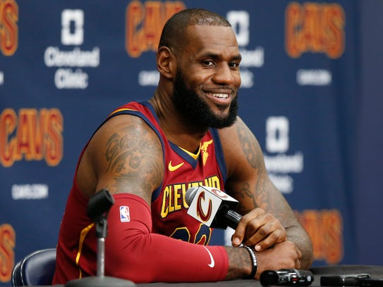 Cleveland Cavaliers' LeBron James.