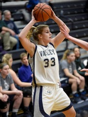 Lebanon Valley's Taylor Troutman finished with 12 points for the night to help Lebanon Valley hold off Messiah by a 58-54 score on Wednesday night.