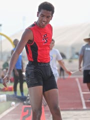 Palm Springs High School senior Ricky Wright competes