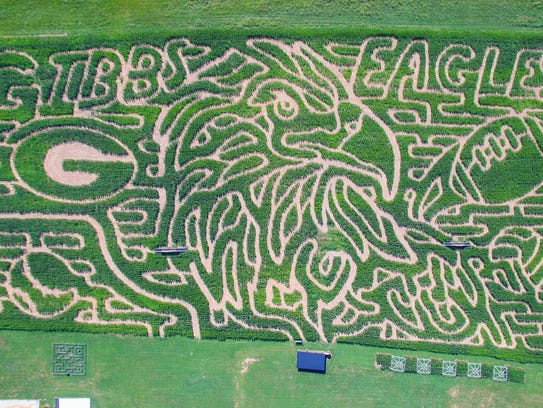 The Oakes Corn Maze design this year pays tribute to