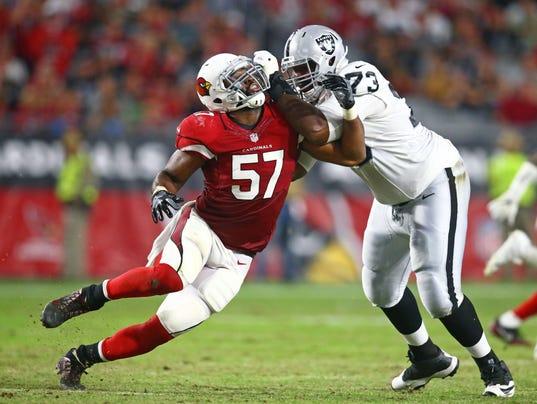 Jerseys NFL Wholesale - Arizona Cardinals' Alex Okafor to play through biceps tear
