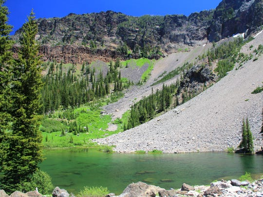 Little Strawberry Lake in the Strawberry Mountain Wilderness.