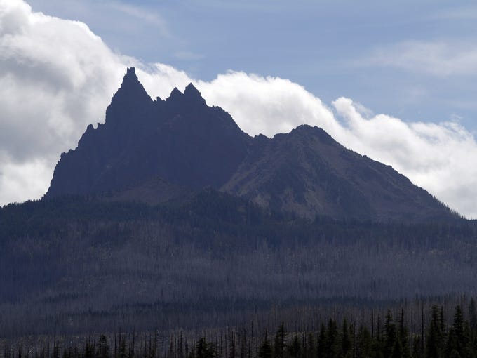Three-fingered Jack can be seen from Marion Lake, in the Mt. Jefferson Wilderness Area. Wednesday Aug. 28.