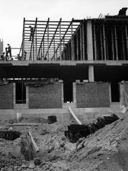 Construction of Ohio University Zanesville in 1966.