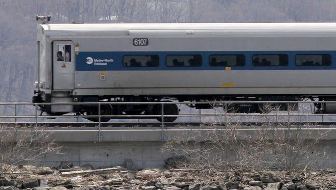 A Metro-North commuter train.