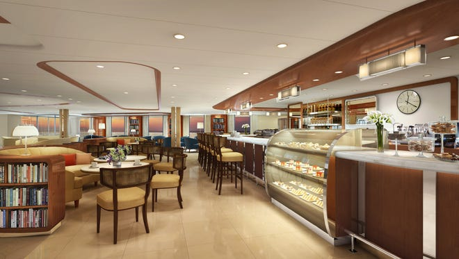 Like earlier Seabourn ships, the Seabourn Encore will have a lounge called Seabourn Square that includes a cafe.