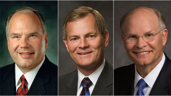 Elders Ronald A. Rasband, Gary E. Stevenson and Dale G. Renlund are the three newest members of the Quorum of the Twelve Apostles of The Church of Jesus Christ of Latter-day Saints.