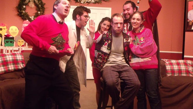 """The cast of a previous production of The Bard's Town Theatre's """"The Kings of Christmas"""" by Doug Schutte."""