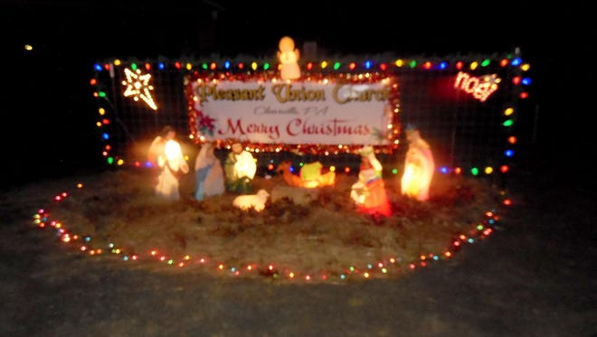Last year's festival included a living nativity and an illuminated version.