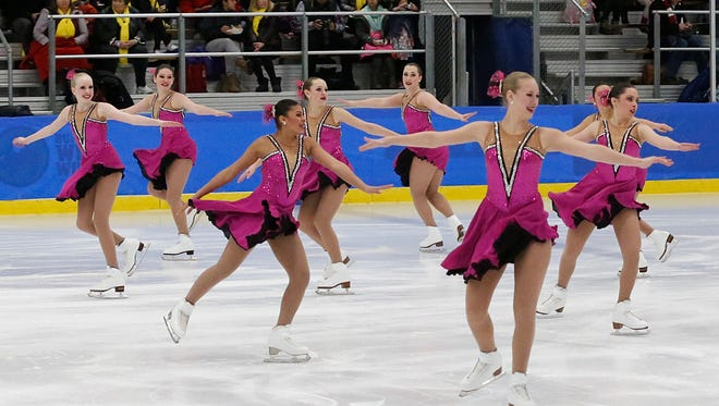 The Fond du Lac Blades Junior team competes at the 2016 Foot of the Lake Synchronized Skating Classic at the Blue Line Family Ice Center in Fond du Lac.