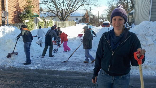 Emily Northey, a resident of West King Street, headed up the effort to shovel out an alley that hadn't been plowed. The effort brought the neighborhood together.