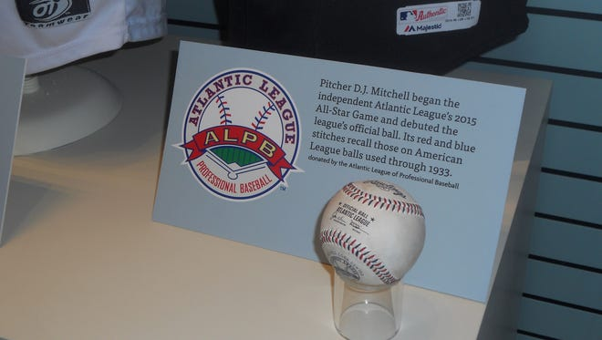 The official Atlantic League baseball is now a permanent part of the Hall of Fame in Cooperstown, New York.