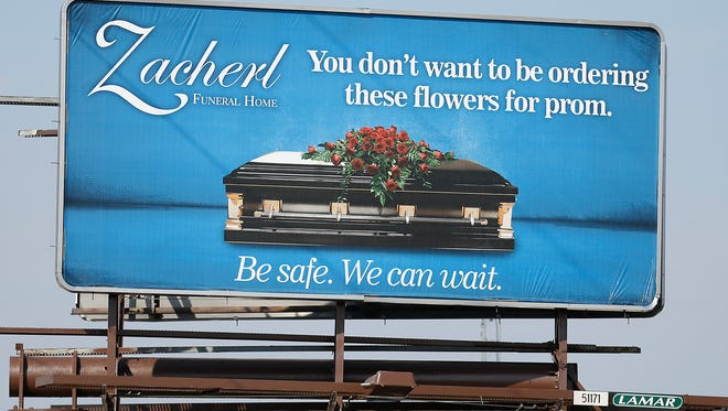 Zacherl Funeral Home in Fond du Lac has launched a billboard campaign that targets youth to be safe.