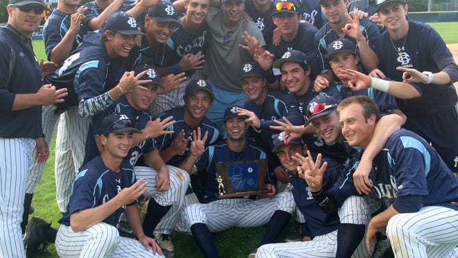 CBA, shown celebrating its 2-0 win over Bishop Eustace last June 3 in the NJSIAA Non-Public South A championship game, begins the season ranked No. 1 in the Asbury Park Press Top 10