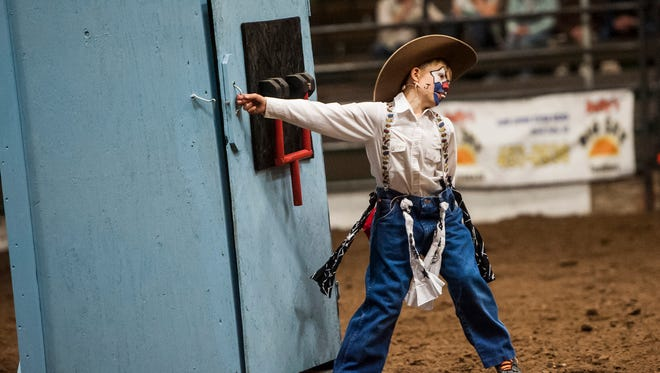 """Joker"" Jett Lorang, 12-year-old grandson of Providence rodeo coach Dick Lyman, returns for another Big Sky Regional College Finals Rodeo Friday and Saturday night at Pacific Steel and Recycling Four Seasons Arena."