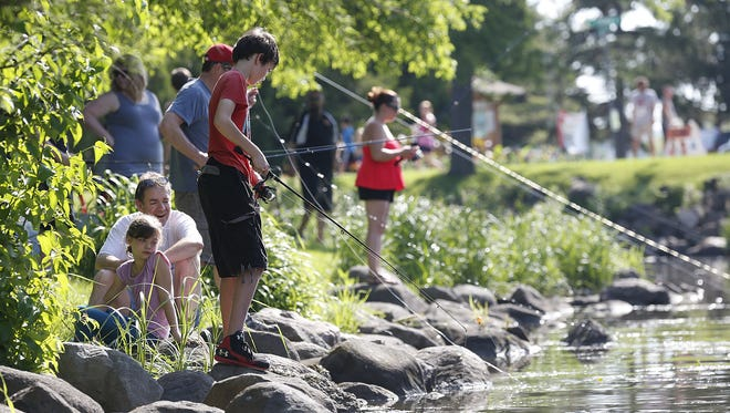 Hot weather greeted festival attendees at this year's Walleye Weekend festival in Lakeside Park.