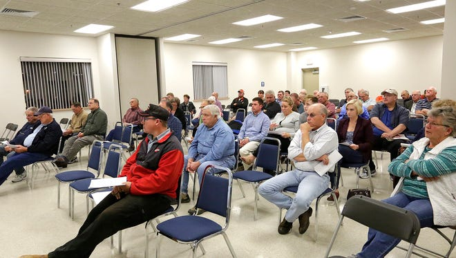 About 75  Fond du Lac County residents listened to county officials talk about critical road concerns at a Turnout for Transportation meeting  held Thursday at the Fond du Lac County Fairgrounds. The statewide event was held in 71 other locations in Wisconsin. Photos of roads in need of repair can be posted at JustFixIt.com.