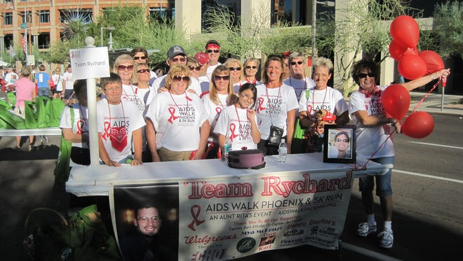 Just a Mom's Team Rychard is led by AIDS Walk Arizona and 5K Run Co-Chair Barb Eldridge.
