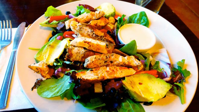 The Southwestern chicken salad at The Cafe is a zesty blend of fresh ingredients.