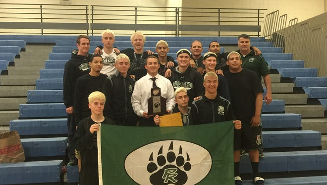 The Palmetto Ridge wrestling team finished second at the 2016 Class 2A-Region 3 tournament, held at Charlotte High School. The Bears crowned three individual champions: Rocco Pereira (113), Joey Nadotti (160), and Joey Parmenter (170). Freshman George Zertopoulis finished second at 138 pounds. All four advanced to the state tournament, held in Kissimmee. Nadotti won the state title for the second year in a row.