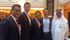 Banke International director Niraj Masand, far left,