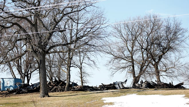 A house at N10241 Highway 151 in the town of Trenton was  destroyed by fire Friday night. Feb. 17. A dog perished in the blaze.