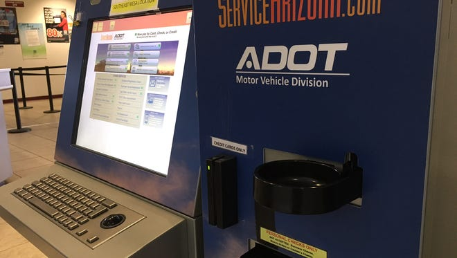 Kiosks that accept cash now are available at 22 Motor Vehicle Division offices in Arizona.