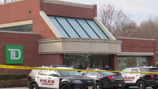 TD Bank on North Beverwyck Road in Parsippany was the scene of a bank robbery on March 6, 2017.