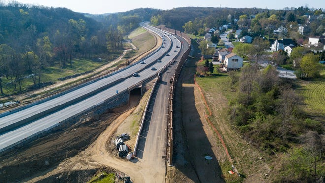 A new on-ramp to southbound Interstate 83 is being built from Mount Rose Avenue. Sunday, April 16, 2017. John A. Pavoncello photo
