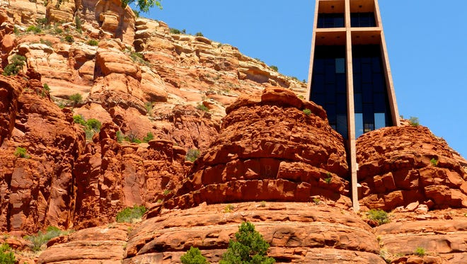 Chapel of the Holy Cross nestles against high sandstone cliffs and offers a meditative little oasis in Sedona.