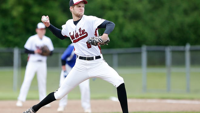 Fond du Lac High School baseball's Peyton Head pitches against Winnebago Lutheran Academy Saturday May 20, 2017. Fond du Lac won the match-up 10-0 in five innings. Doug Raflik/USA TODAY NETWORK-Wisconsin