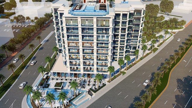 Rendering of the former luxury condo-hotel project called Trio in East Naples