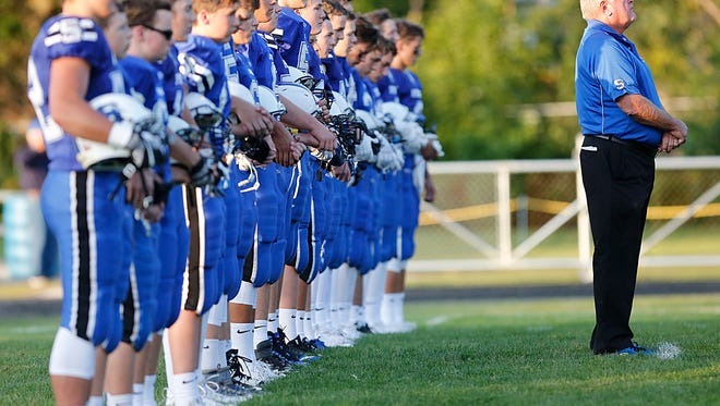 St. Mary's Springs High School football hosts Amherst Friday August 25, 2017 at Fruth Field in Fond du Lac. Doug Raflik/USA TODAY NETWORK-Wisconsin