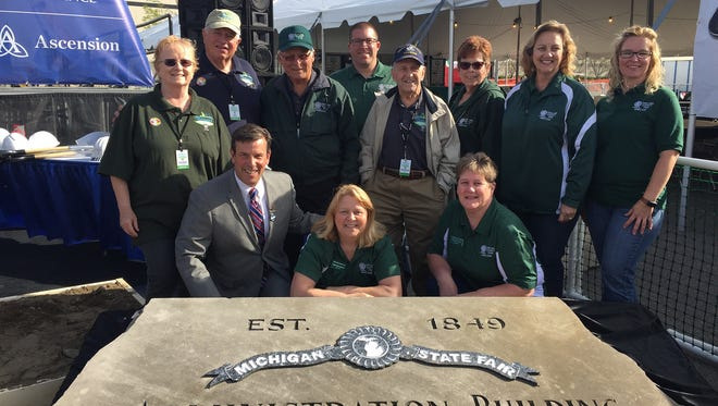 Blair Bowman with members of Oakland County Fair Board