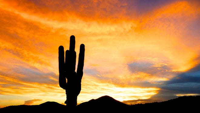 Arizona is known for spectacular sky-fire sunsets.