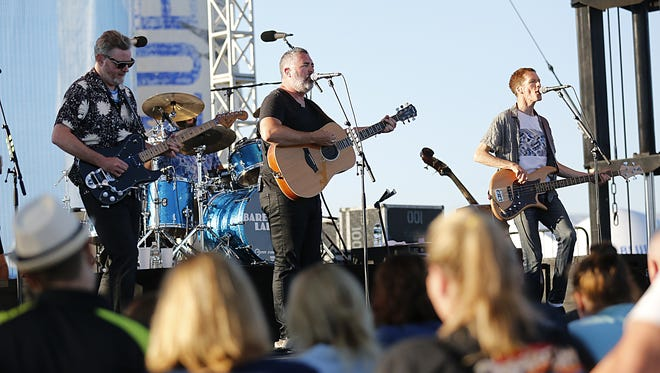 The Barenaked Ladies perform July 24, 2017, at the Experimental Aircraft Association's Airventure 2017.
