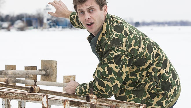 "Comedian Charlie Berens of Los Angeles poses for photos Jan. 7 while in Fond du Lac for a show at the Rec Center at the Fond du Lac County Fairgrounds. Berens is most notably known for his ""Manitowoc Minute"" sketches that appear on Facebook and YouTube."