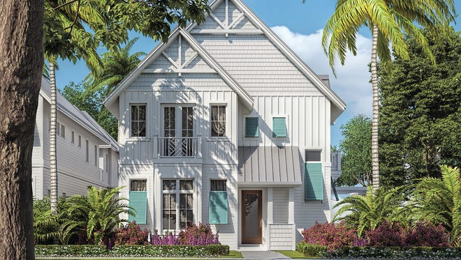 Stock Custom Homes is building three Row Houses in OId Naples.This home is at 102 Sixth St. S.