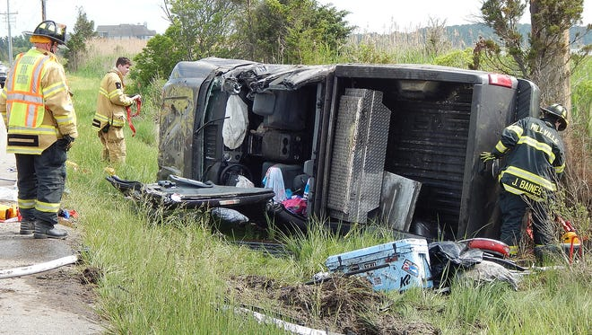 A multi-car crash on Route 1 injured multiple people after vehicles ended up in the marsh area on Sunday, May 27 south of the Indian River Inlet near Bethany Beach.