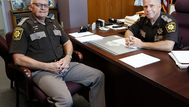 Fond du Lac Sheriff's Department Chief Deputy Mark Strand and Sheriff Mick Fink are both set to retire this year. They say they started together and want to go out together. Wednesday, August 1, 2018. Doug Raflik/USA TODAY NETWORK-Wisconsin