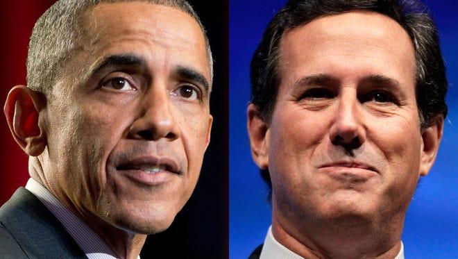 President Obama and Rick Santorum