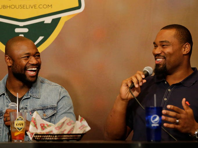 Green Bay Packer Ty Montgomery and co-host Brett Christopherson