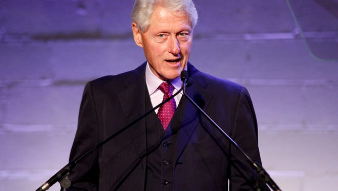 Former President Bill Clinton attends the Jon Bon Jovi Soul Foundation (JBJSF) benefit gala, celebrating ten years of combatting hunger and homelessness, at The Garage on Thursday, Oct. 6, 2016, in New York. (Photo by Andy Kropa/Invision/AP)