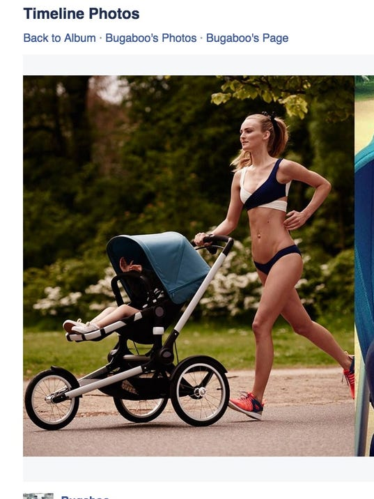 Moms slam ad featuring model running with baby stroller
