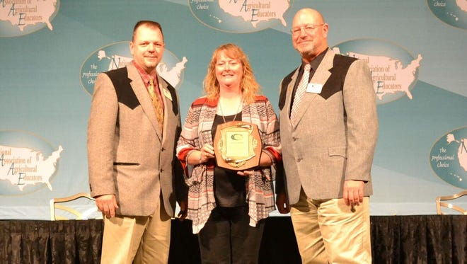 Susan Swope, agricultural educator at Red Mountain Middle School is one of only six individuals nationwide who received the National Agriscience Teacher of the Year Award.